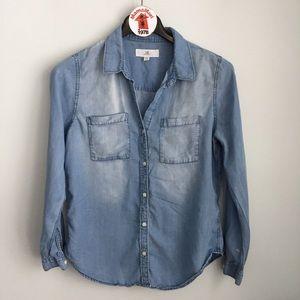 Thread & Supply Blue Sandblast Button Down Shirt